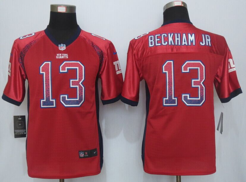 Youth New York Giants 13 Beckham jr Drift Fashion Red New Nike Elite Jersey